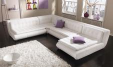 Modernes Echtleder Sofa Exit Ten als U Form