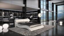 Luxus Design Wasserbett Azure komplett mit Technik in weiss