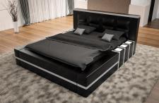 Modernes Komplettbett Asti in schwarz weiss mit LED Beleuchtung