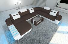 Designer Wohnlandschaft Bellagio als XXL Stoffsofa mit Beleuchtung