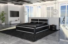 Wasserbett Venedig schwarz weiss mit LED Beleuchtung