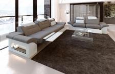 Stoff Sofagarnitur Monza mit 3 Sitzer und 2 Sitzer Sofa