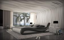 Designerbett Aprilia mit LED Beleuchtung 180x220 und 200x220cm