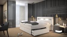 Design Komplettbett München mit Stauraum - Matratze - Lattenrost