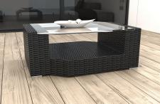 Poly Rattan Tisch Gartentisch Messana
