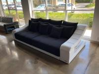 Design Stoff Big Sofa Turino mit LED Beleuchtung