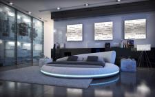 Wasserbett Mezzo Komplett Set mit LED Beleuchtung