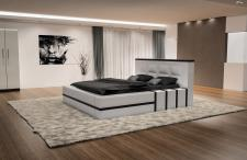 Komplettes Bett Asti mit LED Beleuchtung - Matratze und Lattenrost