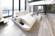 Designer Ledersofa Wave in der L Form als modernes Ecksofa