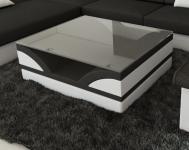 Sofatisch Monza mit einer Tischplatte aus Sicherheitsglas