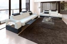 Stoff Sofagarnitur Parma mit 3 Sitzer und 2 Sitzer Sofa