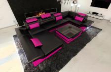 Sofa Wohnlandschaft Enzo in U Form auch mit Schlaffunktion