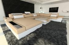 Couch Mezzo als XXL Wohnlandschaft in Stoff