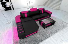 Sofa Bellagio als modernes Ecksofa in der L Form mit LED Beleuchtung