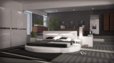 Designer Rundbett Night weiss 180 x 200 cm