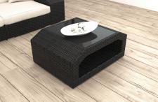 Designer Rattan Tisch Matera für Garten und Terrasse