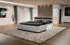 Hochwertiges Boxspringbett Apollonia in weiss-schwarz zum Top Preis