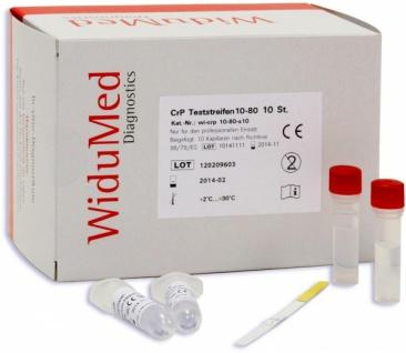 CRP Test (10 Testkassetten) zum Nachweis von C-reaktivem Protein aus Vollblut. Widumed