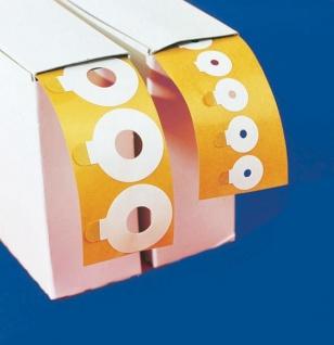 EKG Kleberinge für Kinder. Hellige 30 x 10 mm. beiseitig klebend. transparent (500 Stück auf der Rolle)