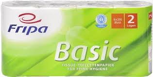 Toilettenpapier Basic. 2-lagig. weiß. (64 Rollen a 250 Blatt)