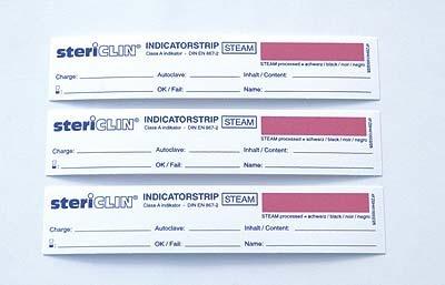 Sterilgut Indikatoren für Dampfsterilisation (250 Stück) nicht klebend. Stericlin