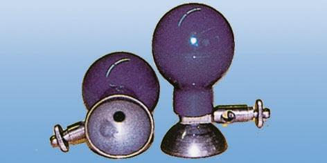 EKG Brustwand Saugelektrode für Erwachsene. 24 mm. mit blauem Gummi Ball