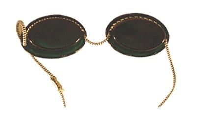 UV-Schutzbrille. Solariumbrille. rot. Klassik. mit Gummibändern
