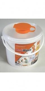 MediWipes premium Vliestuch-Spendereimer 5.6 Liter Inhalt