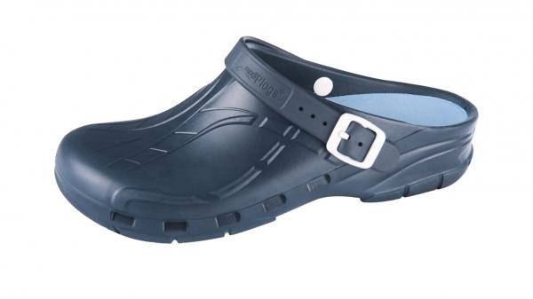 OP-Schuhe Medimex mediPlogs plus mit Fersenriemen und Einlegesohle. Farbe blau. Gr. 36 - 47