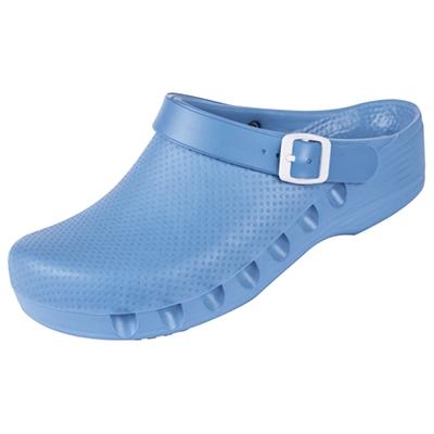 OP-Schuhe Medimex mediPlogs mit Fersenriemen. waschbar bis 60°C. Farbe helllblau. Gr. 35 - 48
