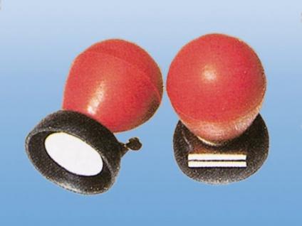 EKG Brustwand Saugelektrode für Erwachsene 24 mm. mit Kontaktplatte und roten Gummi Ball