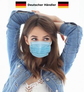 DE Händler Behelfsmundschutz Maske 3lagig Atemmaske Gesichtsmaske Alltagsmaske Behelfsmaske SOFORT LIEFERBAR