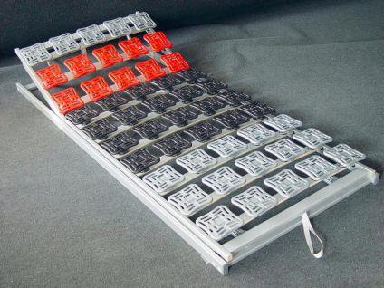 """5 Zonen Tellerfeder Lattenrost / Teller Lattenrahmen """"Motionstar"""" mit oder ohne Kopf / Fußteil Verstellung günstig - Vorschau 1"""