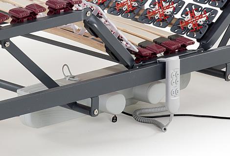 Elektrischer 7 Zonen Motor Lattenrost Lattenrahmen Moonlight mit Teller Aufstehhilfe Pflegebett Pflege - Vorschau 4