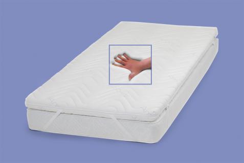 """Gel / Gelschaum Matratzenauflage """"Dream Foam"""" Höhe 9 + 12 cm Auflage für Matratze günstig weich soft H1 - Vorschau 2"""