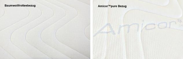 """Gel / Gelschaum Matratzenauflage """"Dream Foam"""" Höhe 9 + 12 cm Auflage für Matratze günstig weich soft H1 - Vorschau 3"""