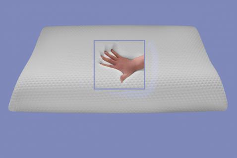 Viskoelastisches Kopfkissen mit Massage Noppen Nackenstützkissen druckentlastend Visco / Visko 80x40 cm