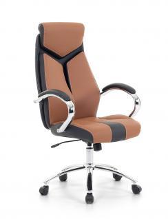 "Designer Chefsessel Bürosessel ""Formula"" Farbe braun schwarz Bürostuhl Schreibtischstuhl bequem"