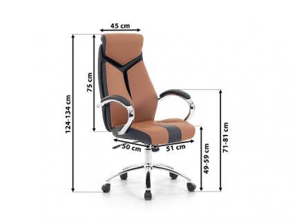 """Designer Chefsessel Bürosessel """"Formula"""" Farbe braun schwarz Bürostuhl Schreibtischstuhl bequem - Vorschau 4"""