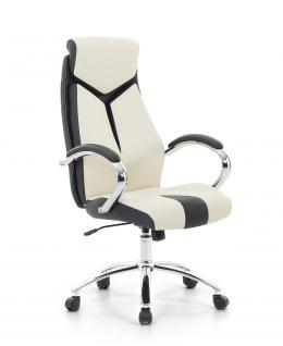 """Designer Chefsessel Bürosessel """"Formula"""" Farbe creme weiss schwarz Bürostuhl Schreibtischstuhl bequem - Vorschau 1"""