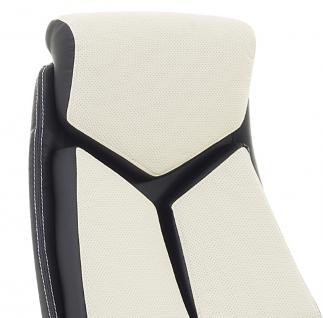 """Designer Chefsessel Bürosessel """"Formula"""" Farbe creme weiss schwarz Bürostuhl Schreibtischstuhl bequem - Vorschau 2"""