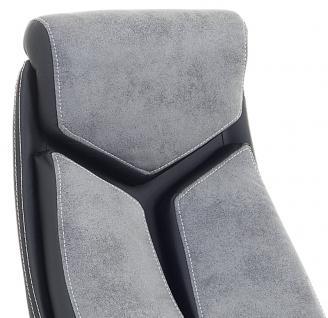 """Designer Chefsessel Bürosessel """"Formula"""" Farbe grau schwarz Bürostuhl Schreibtischstuhl bequem - Vorschau 2"""