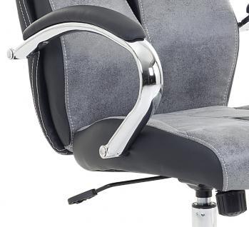 """Designer Chefsessel Bürosessel """"Formula"""" Farbe grau schwarz Bürostuhl Schreibtischstuhl bequem - Vorschau 3"""