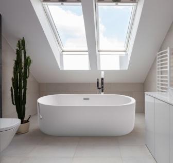 Freistehender Luxus Whirlpool Badewanne Bern freistehend mit 12 Massage Düsen + LED Spa für Bad - Vorschau 1