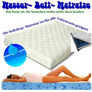 """Wasserbett Matratze """"Exklusiv"""" Höhe 16 cm komplette Wassermatratze mit Beruhigung mittel oder fest günstig"""