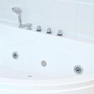 XXL Luxus Whirlpool Badewanne Bali LINKS mit 14 Massage Düsen + Armaturen Spa für Bad linke Eckwanne günstig - Vorschau 4