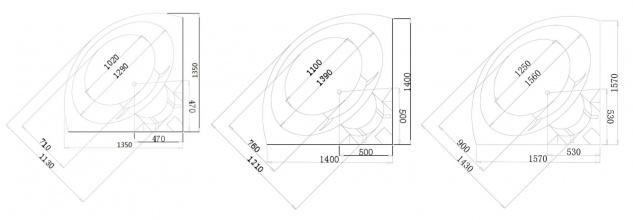 Luxus Whirlpool Badewanne London 135x135 / 140x140 / 157x157 cm mit 21 Massage Düsen + LED + Heizung + Ozon + Glas - Vorschau 5