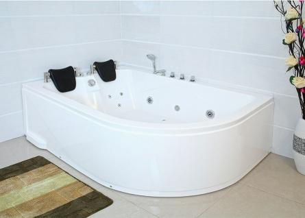 XXL Luxus Whirlpool Badewanne Bali LINKS mit 14 Massage Düsen + Armaturen Spa für Bad linke Eckwanne günstig - Vorschau 1
