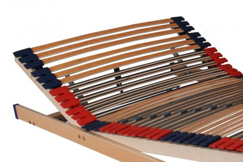 """7 Zonen Lattenrost Lattenrahmen """"DELUXE"""" 45 Federholzleisten Härtegrad + Kopf- und Fußteil verstellbar - Vorschau 2"""
