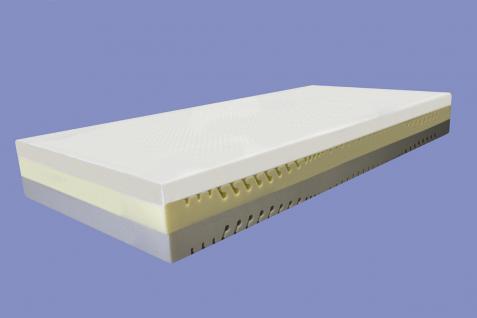 """Viscoelastische 7 Zonen Matratze """"Variation"""" Höhe 22 cm, 6 cm Visco / Visko RG60 mit 12 Härtegrade - Vorschau 2"""